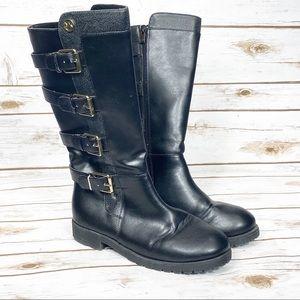 Michael Kors Mid Calf Dahalia Reeve Black Boots